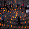 2014 Festival of Light and Gratitude: The 2nd Annual Black Friday luminous labyrinth walk at Baker Beach